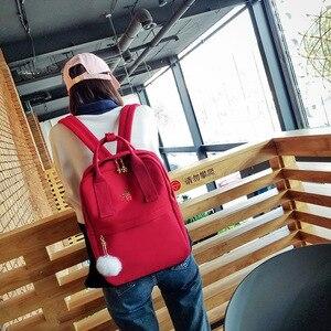 Image 4 - Sac à dos en toile jaune pour femmes, sac de voyage de grande capacité pour adolescentes, mignon, à la mode, nouvelle collection