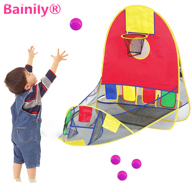 [Bainily]Ball Tent Play House Basketball Basket Tent Ocean Ball Pool Outdoor Indoors Sport Kids Toys Beach Lawn Play Tent