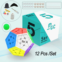 YJ HQ MGC 5x5x5 Magnetic Magic Cube Colorful 12 Colors Neo Cube Puzzle Speed Cube For Brain Training Toys For Children Adult