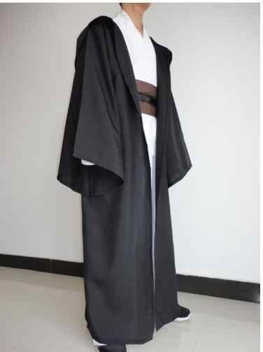 New Star Wars Jedi Robe Hooded Cloak Cape เครื่องแต่งกายผู้ใหญ่ผู้ชายสีดำ Darth Vader - เครื่องแต่งกายฮาโลวีนคริสต์มาสชุด