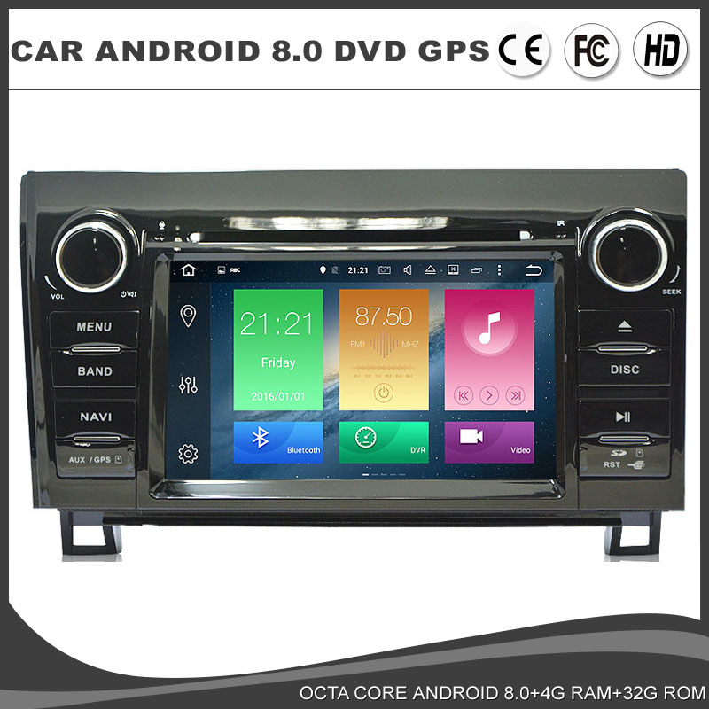 <font><b>Android</b></font> 8.0 <font><b>Car</b></font> DVD GPS player ForToyota Sequoia 2008-2015 Octa Core WIFI <font><b>4GB</b></font> <font><b>RAM</b></font>+32GB ROM DVR USB <font><b>Radio</b></font> Navi BT DAB TPMS MAP image