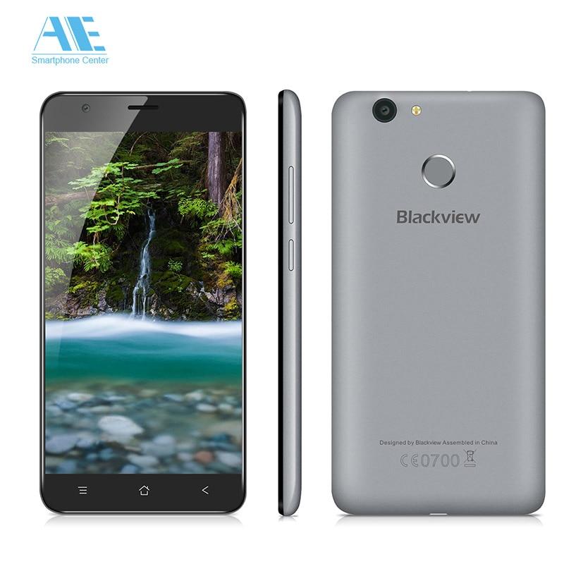 Цена за Оригинал Blackview E7s MTK6580A Quad Core Android 6.0 Смартфон 5.5 Дюймов 2 Г RAM 16 Г ROM Отпечатков Пальцев 8.0MP Камеры мобильный Телефон