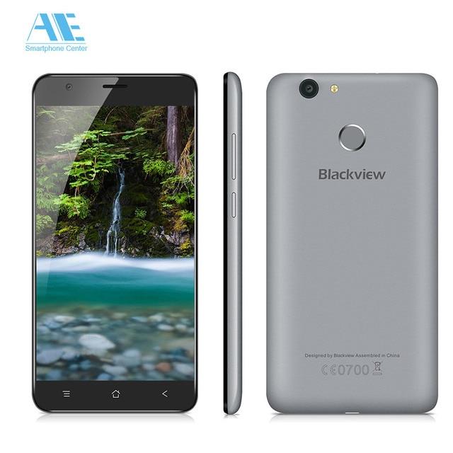 Original Blackview E7s MTK6580A Quad Core Android 6.0 Smartphone 5.5 Inch 2G RAM 16G ROM Fingerprint 8.0MP Camera Mobile Phone