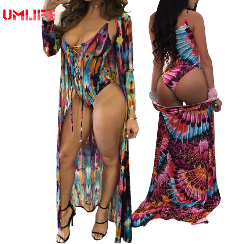 African Print Swimwear Womens Sexy Lace Up Swimsuit One Piece Monokini 2017 Bodysuit Bathing Suit With Tunics For Beach