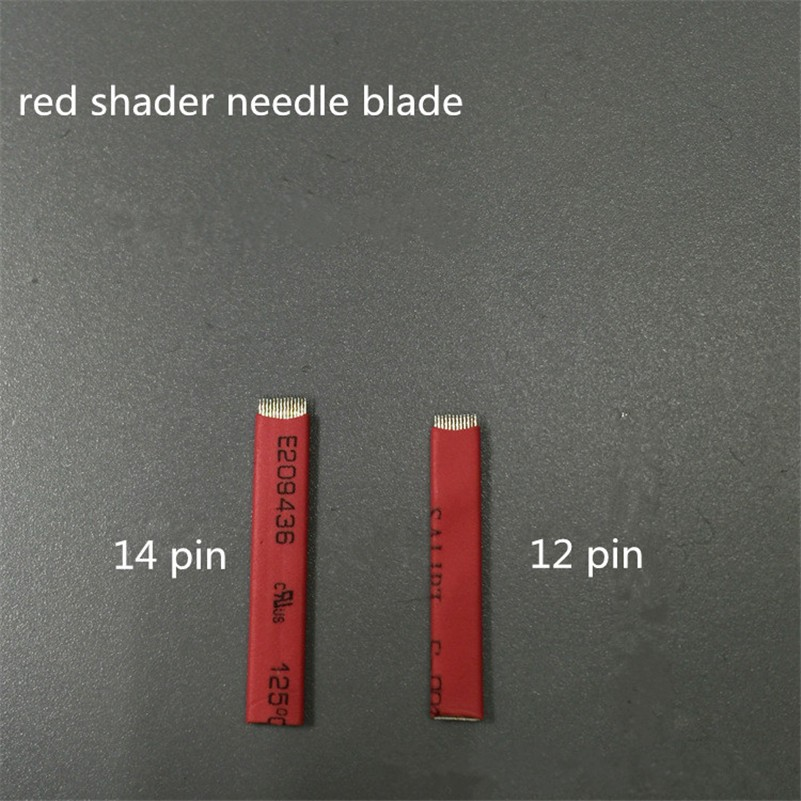 Pcs/Lot Mixed Eyebrow Tattoo Needle Blade PCD Microblading 12 Or 14 Sloped Needles For 3D Embroidery Manual Tattoo Pen Machine 16