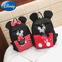 Disney 2019 Mickey Minnie Mouse Kids Backpacks Child Boy Girls School Bag Cute Backpack New Polyester Kindergarten Cartoon Bags