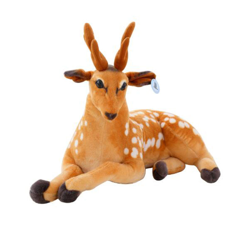 30-50cm Simulation Deer Plush Toy Staffed Sika Deer Toy For Kids Baby Doll Childrens Bir ...