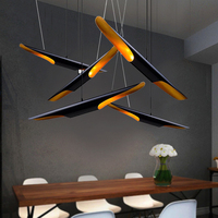 Creative Aluminum Parlor Led Chandelier Dining Room Coffee Shop Bedroom Pendant Lamp Loft Lustre Suspension Art Ceiling Hanglamp