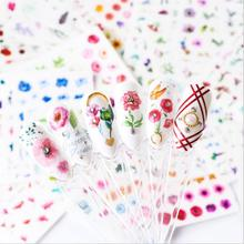24Pcs Mixed Design New Nail Art Flower Sticker Watercolor Ink Butterfly Water Transfer Decal Decor