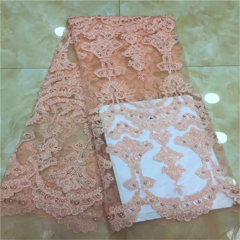 סגול עיצוב נצנצים רשת תחרה בד אפריקאי הודי תחרת נטו שרוכי 2019 חרוזים ניגרי סגנון חתונת שמלת פאייטים בדים