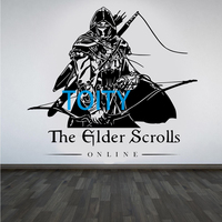 The Elder Scrolls Wall Sticker Online Game Vinyl Decal Boy Room Interior Decor Art Mural H58cm