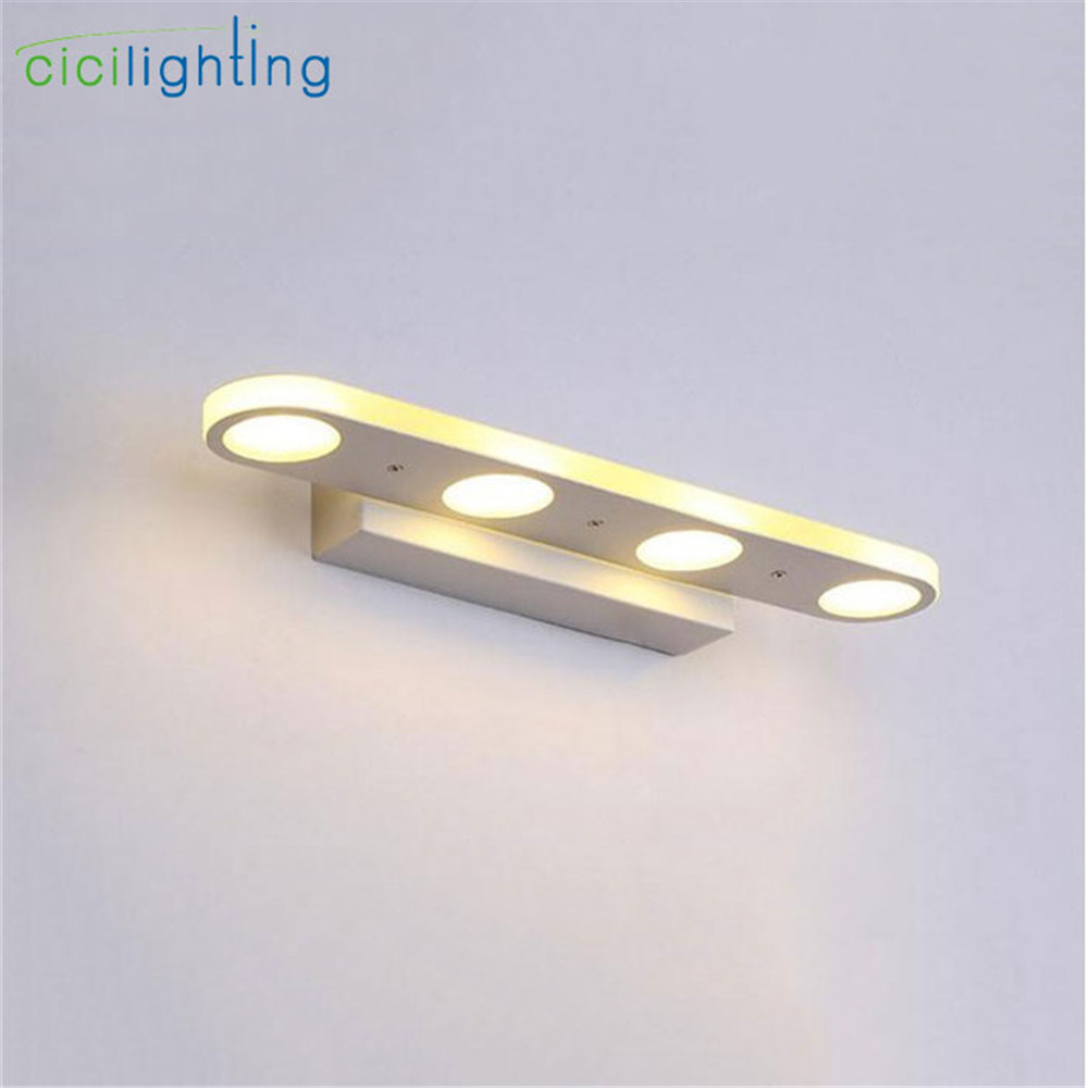 90V - 265V 12W 37cm led mirror lights lamp Modern white cabinet lights LED Dress mirror bedroom bathroom lighting fixture 90v 265v 12w 37cm led mirror lights lamp modern white cabinet lights led dress mirror bedroom bathroom lighting fixture