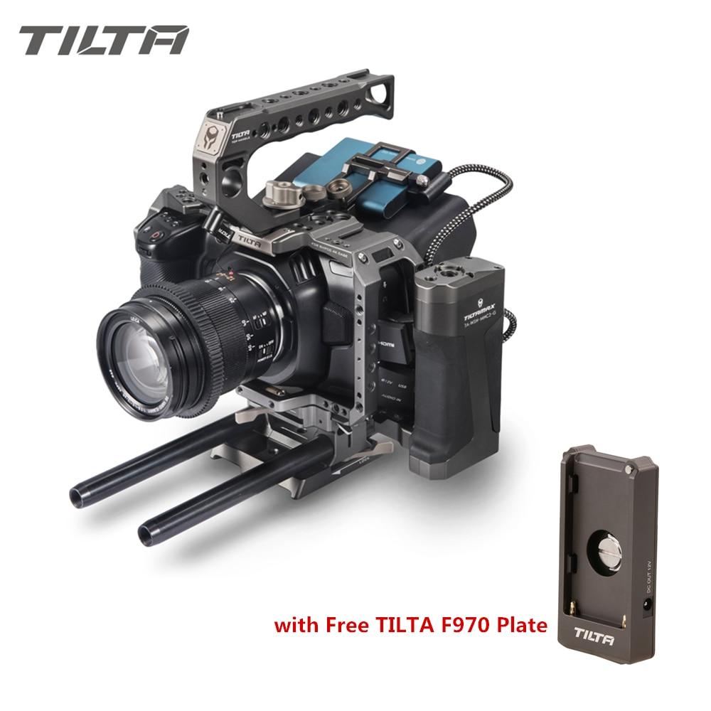 Tilta BMPCC 4K 6K Cage de caméra TA-T01-A-G Cage complète support de lecteur SSD poignée supérieure poignée latérale pour BlackMagic BMPCC4K 6K