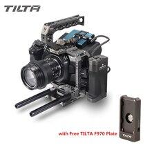 Tilta BMPCC 4K 6K kamera kafesi TA T01 A G tam kafes SSD sürücü tutucu üst kolu yan kol BlackMagic BMPCC4K 6K siyah kafes