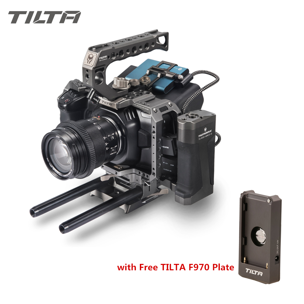 Tilta BMPCC Gaiola 4 K TA-T01-A-G Completa Unidade SSD Titular Gaiola Alça Superior alça Lateral para BlackMagic Bolso BMPCC 4 K Câmera Livre DHL