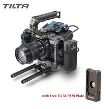 Tilta bmpcc 4 18k 6 18kカメラケージTA T01 A GフルケージssdドライブホルダートップblackmagicためハンドルサイドハンドルBMPCC4K 6 18k黒ケージ