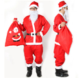 Free Shipping Christmas Custumes Santa Claus Red Clothes Santa Claus Cosplay Costume