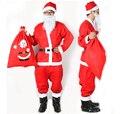 O Envio gratuito de Natal Custumes Roupa de Papai Noel Papai Noel Vermelho Traje Cosplay