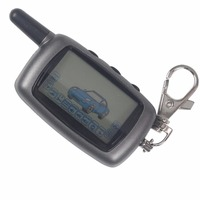 Jingyuqin 2 Way LCD Remote Control Keychain Key Fob Cover For Starline A6 Russian Version Two