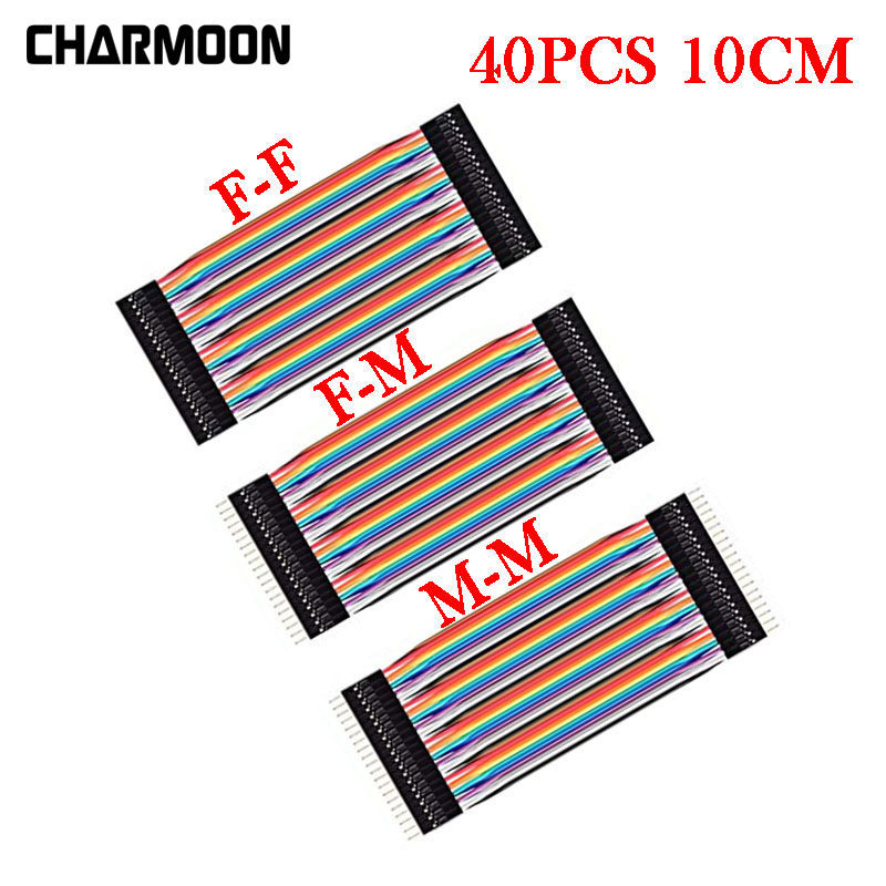 40pcs 10cm Dupont Line Male To Male / Female To Male Or Female To Female Jumper Wire Dupont Cable For Arduino DIY KIT