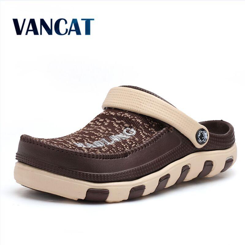 Summer Slippers Men Casual Cloth Sandals Breathable Shoes 2017 Fashion Beach Sandalias Flip Flops Man Light Zapatillas Homme