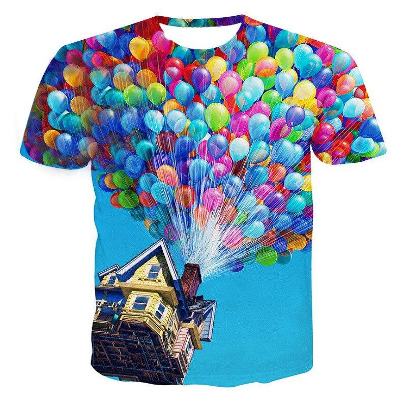 Fashion Up 3D Print T Shirt Esplendido Film Pixar Unisex