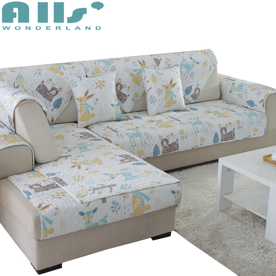 Sofa Covers For Living Room With Colorful Cartoon Pattern