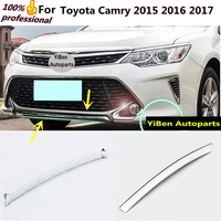 Car cover protection Bumper engine ABS Chrome trims Front bottom Grid Grill Grille Around edge for Toyota Camry 2015 2016 2017
