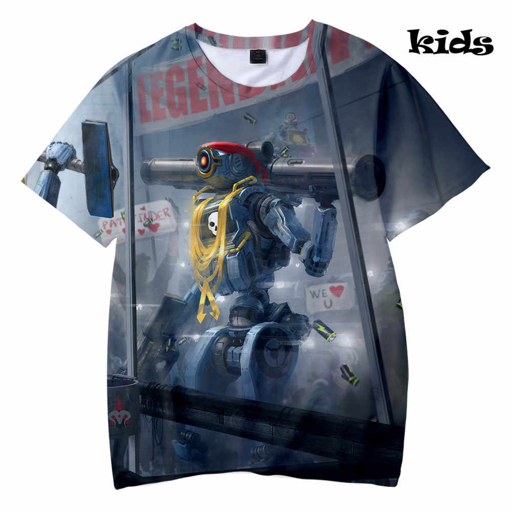 91ddacbb8ba BTS Cool Game Apex Legends 3D Kids Summer T-shirt Streetwear Casual Boys/ Girls