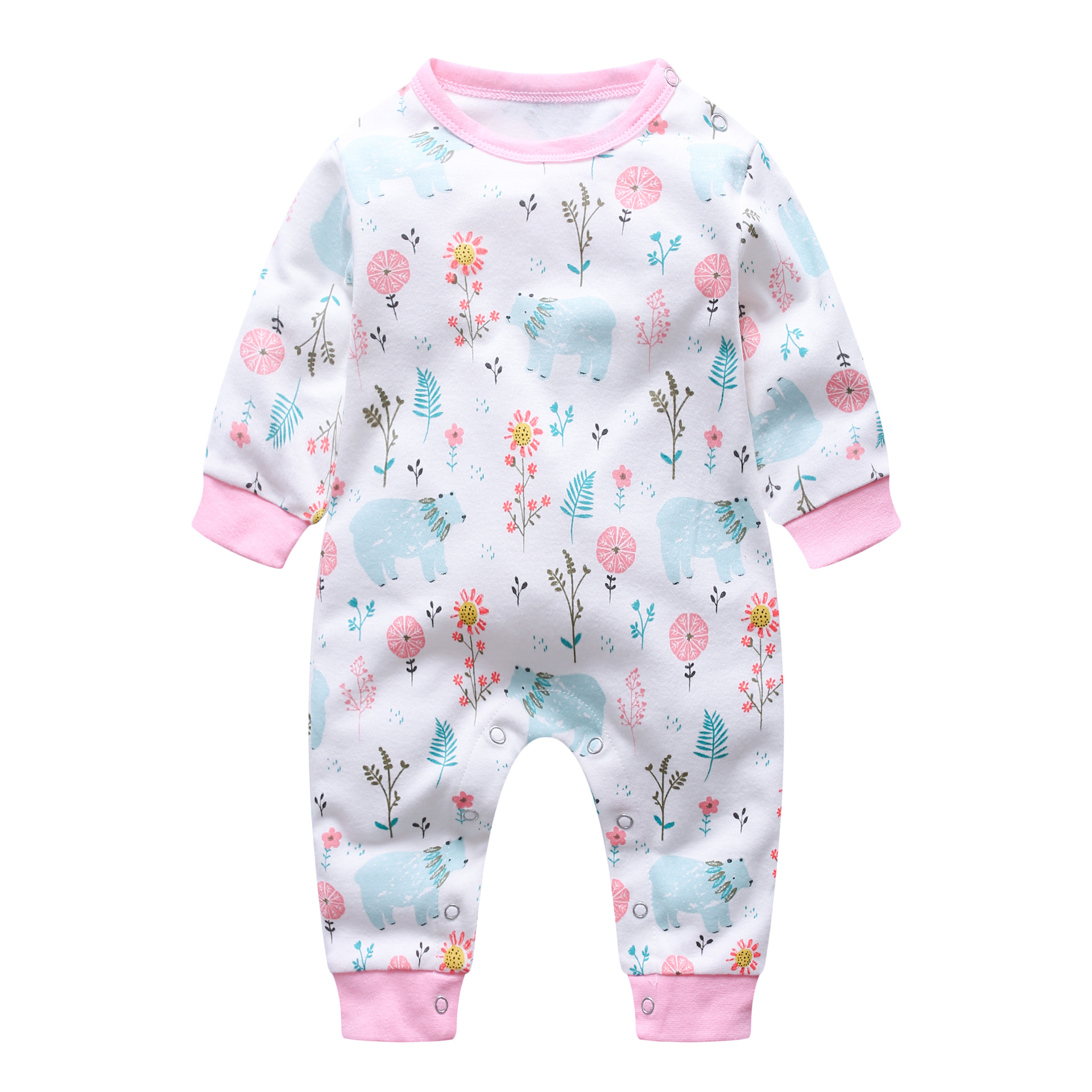 2018 new style Autumn cotton Baby   Rompers   Fashion print Newborn Clothing Long Sleeve Jumpsuits baby Boys Girls Outerwear