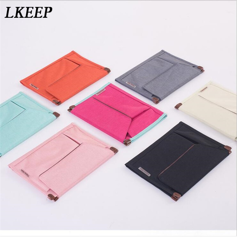6 Colors Fashion Bags For Women Portable File Folder Briefcase Notebooks Phone Women Bags