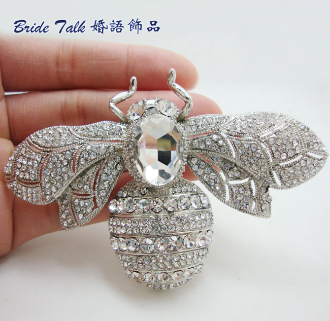 Fashion Vintage Retro Bee Clear Rhinestone Crystal Insect Brooch Pin Party Jewelry Woman Brooch 6608 дозатор жидкого мыла grampus laguna gr 7812