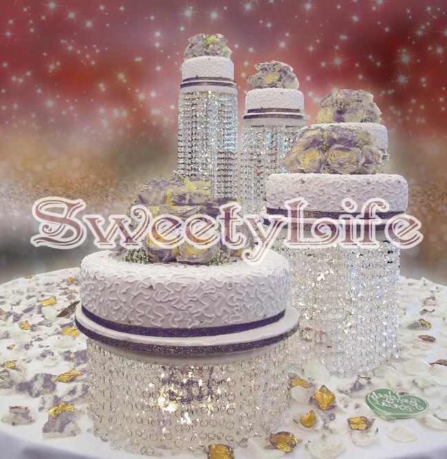5 pcs/ensemble Mariage Décoration Cristal transparent acrylique porte-gâteau D'anniversaire Gâteau décor de Fête
