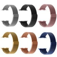 Luxury Milanese Loop Strap Link Bracelet Stainless Steel Band Adjustable Closure For Apple Watch 38 42mm