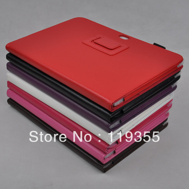 Free Shipping High Quality Camera Frame Leather Case with Built-in Stand folio case for Samsung galaxy note 10.1 N8000
