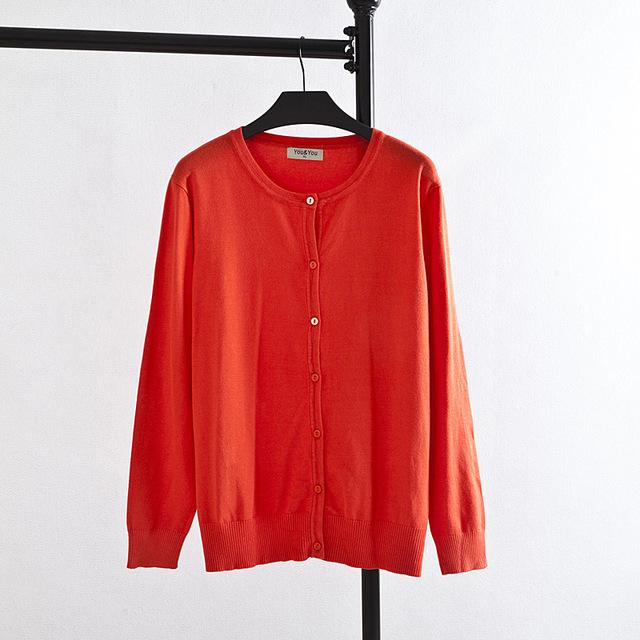 Suéteres para Mujer de un solo Pecho Más Tamaño 3XL 4XL Cardigans V-cuello Flojo Ocasional Naranja Rosa Negro KK1425