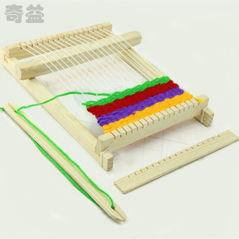 1PC Weaving Loom Kids Baby Toy Wooden Craft Traditional Hand Pretend Gift For Child Play Knitting QDD9376