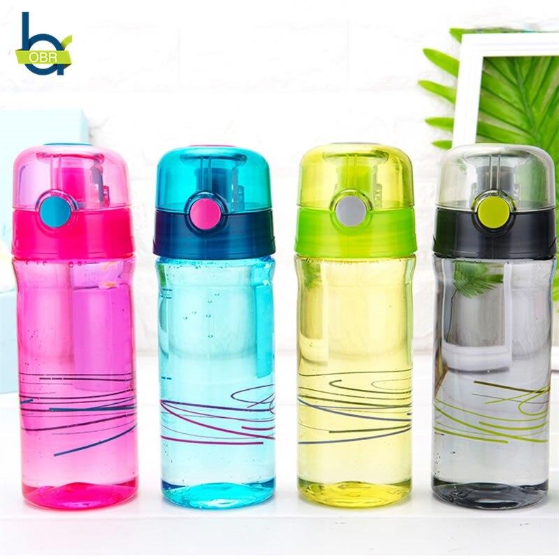 OBR Water Bottle Portable Sport Drink Bottle Protein Shaker Tour Outdoor Plastic Leak Proof Drinkware My Bottle BPA Free 600ml