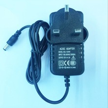 100 STKS 12V2A Hoge kwaliteit IC oplossing AC 100 V 240 V Converter Adapter DC 12 V 2A Voeding UK Plug DC 5.5mm x 2.1mm 2000mA