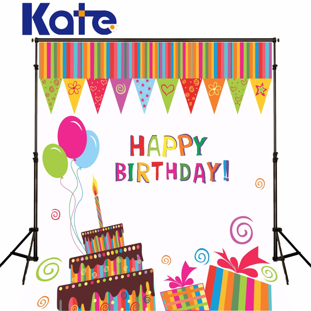 5x7Kate Children Birthday Photography Backdrops Balloon Photo Backdrop Birthday Cake Fairy Tale Backgrounds for Photo Studio vinyl photography background fairy tale