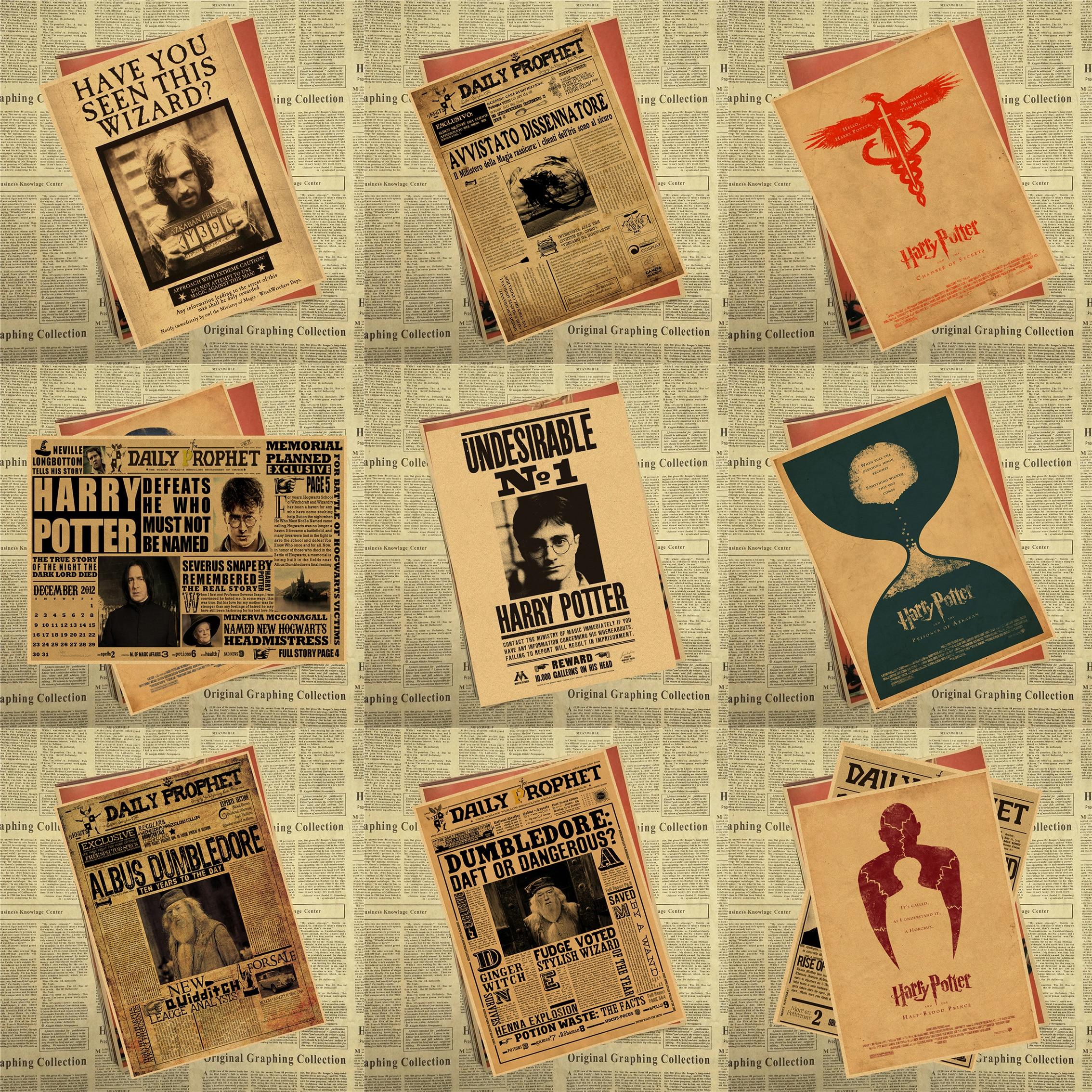 Harija Potera gribēja pasūtīt nevēlamu Nr.1 Vintage Kraft plakātu dekoratīvā Sirija Oriona melnā manifesta vai dekora dāvana