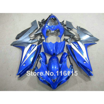 Injection molding perfect fit for YAMAHA YZF R1 2007 2008 fairing kit YZF-R1 07 08 blue black full fairings set CF59