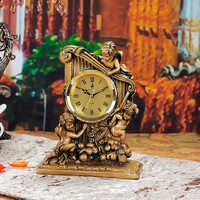 Resin Craft Large 27x24cm Babies Playing Design Clock Handicraft Creative Ornament Home Decoration Birthday Gift A1837