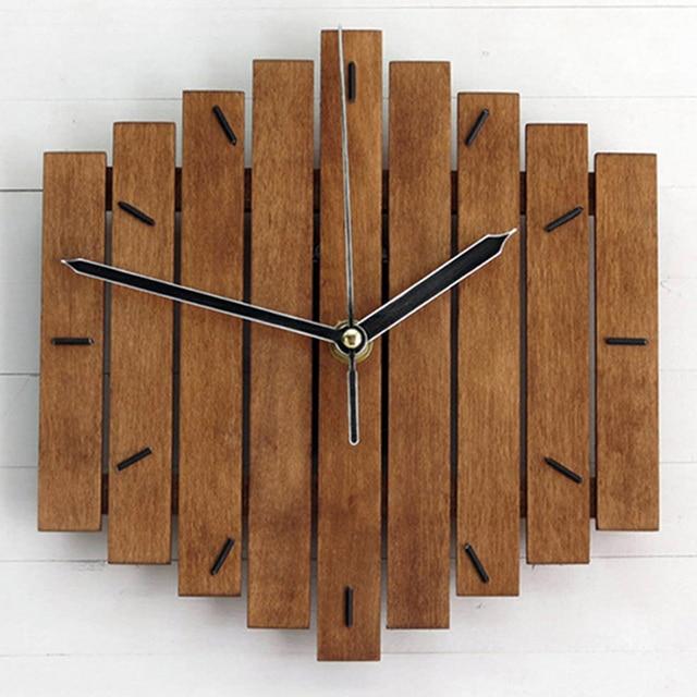 שעון קיר מעץ בדוגמת קסילופון 1