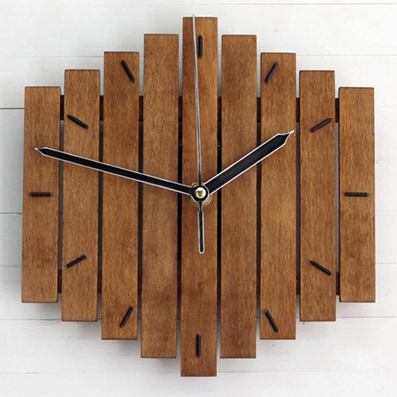 Slient Xylophone Wooden Wall Clock Modern Design Vintage Rustic Shabby Clock Quiet Art Watch Home DecorationSlient Xylophone Wooden Wall Clock Modern Design Vintage Rustic Shabby Clock Quiet Art Watch Home Decoration