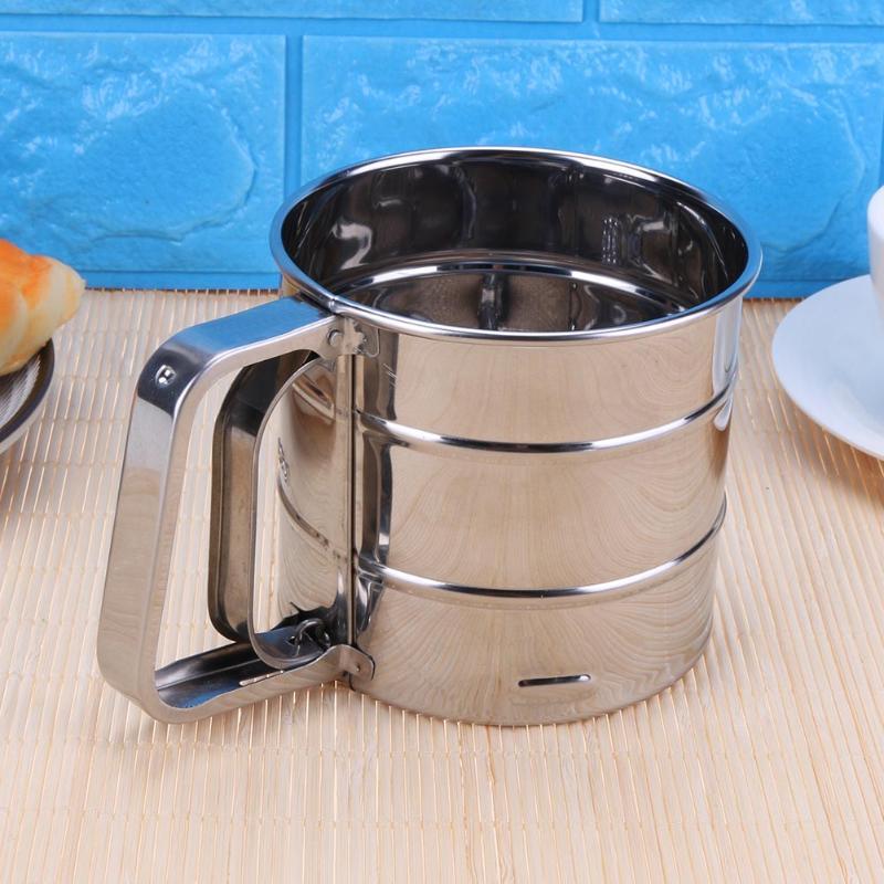 filter pulver sieb verdickte sieb edelstahl kuchen mehl sieb sieben zucker