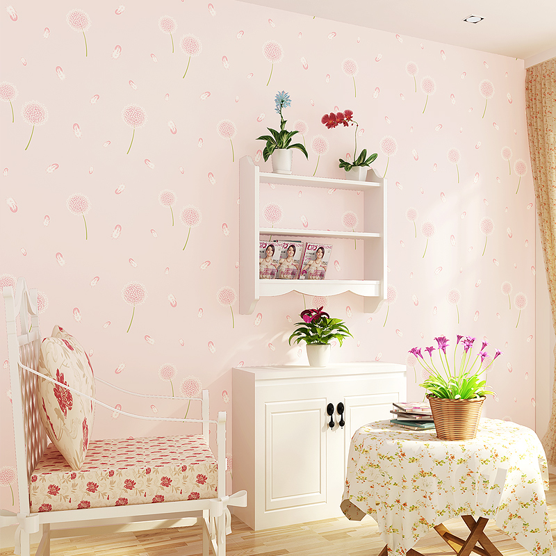 Romantic Non-woven wallpapers for living room Dandelion wallpaper roll for kids room bedroom wall paper TV background home decor 10m 53cm non woven wallpaper children room wall stickers home decor palace classic bedroom sitting room europe type style