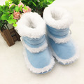 Fashion Infant Girls Soft Bottom Shoes 2015 Winter Sheepskin Antiskid Keep Warm Baby Shoes First Walkers Snow Boots T0087