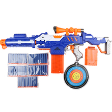 цена Electronic Submachine Gun Toy Suit for NERF Soft Bullet Gun Rival Elite Series Outdoor Fun & Sports Toy Gift for Kids Boys в интернет-магазинах