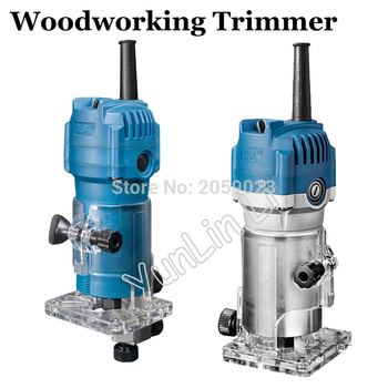 """Woodworking Trimmer 6.35mm and 1/4"""" 530W/550W Electric Wood Trimmer Chamfering Machine Router For Wood Work M1P-FF03-6"""